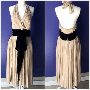 Womens nude and black dress